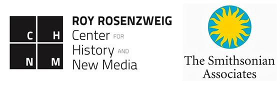 left, center for history and new media logo, right, the smithsonain associates logo