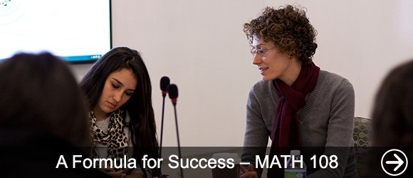 link to A Formula for Success – MATH 108 news article