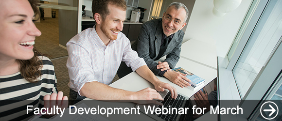 link to Faculty Development Webinar for March news article