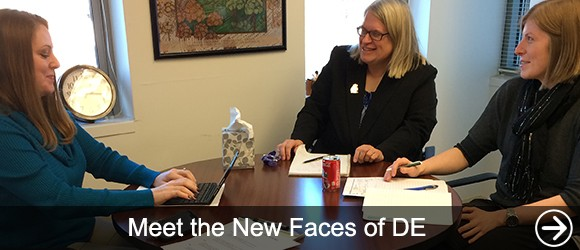 link to Meet the New Faces of DE news article