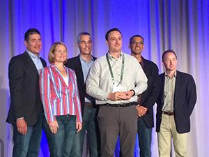 joe depietro received catalyst award on behalf of himself and linda davis