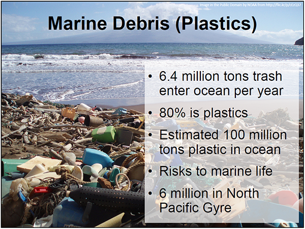 screen shot from marine debris presentation